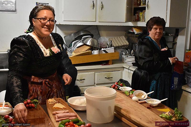 Tracey Stiller and Debbie Woytta at the Heimat Banquet Centre