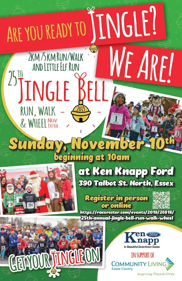 Jingle Bell Run Walk and Wheel Poster