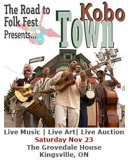 Kobo Town Road To Kingsville Folk Fest Banner Sidebar