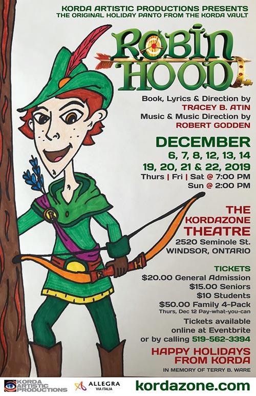 Korda Artistic Productions Robin Hood Holiday Panto Poster