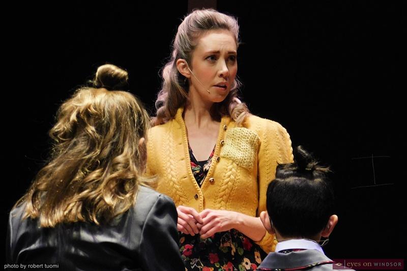Actor Megan Whalen as Miss Honey in Matilda