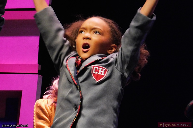 Evangeline Scott in Windsor Light Music Theatre's Matilda