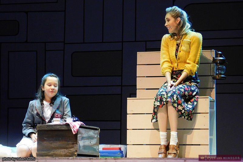 Josephine 'Posy' Cormier and Megan Whalen in Matilda The Musical