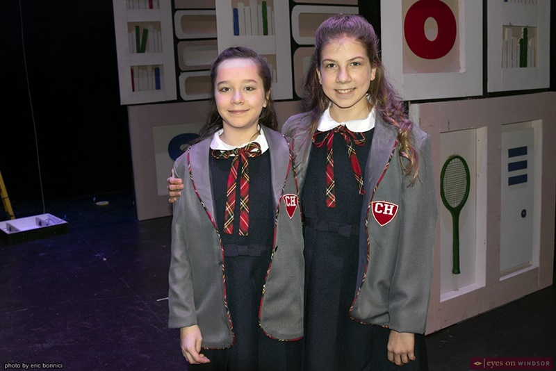 Josephine Cormier and Morgan DeYong as Matilda