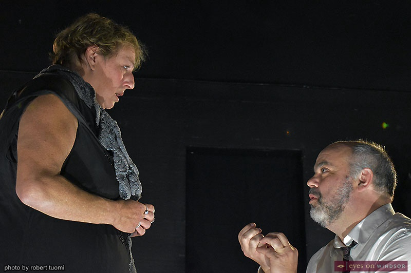 Actors Rob Tymec and Michelle Mainwaring