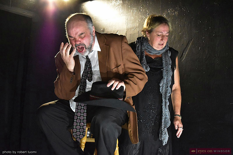 Actors Michelle Mainwaring and Robert Tuomi in Monkeys With A Typewriter's Moments of Clarity