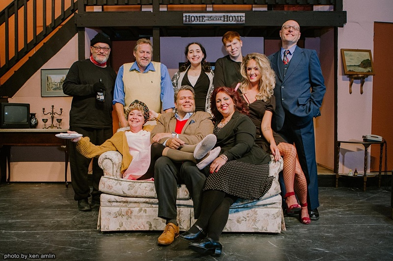 The Cast of Noises Off at The Bank Theatre