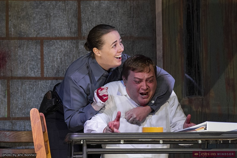 Fay Lynn and Eric Branget in The Pillowman by Post Productions