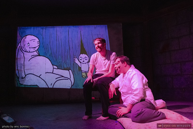 Joey Wright and Eric Branget in The Pillowman by Post Productions Windsor