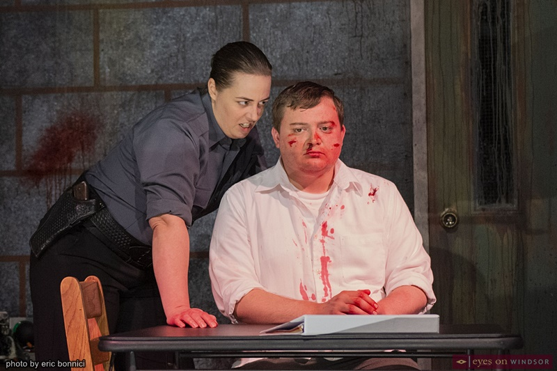 Fay Lynn an Eric Branget in The Pillowman by Post Productions Windsor