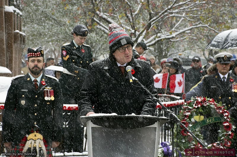 Mayor Drew Dilkens Remembrance Day Windsor