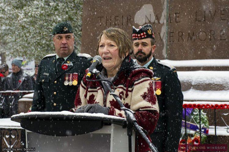 Windsor Remembrance Day Honours Sacrifices Despite Heavy Snowfall