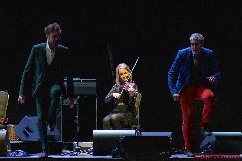 Jon Pilatzke and Nathan Pilatzke dancing during The Chieftains concert