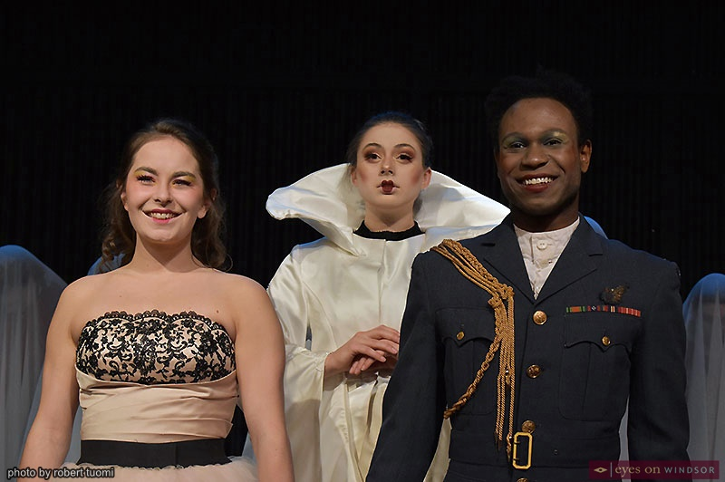 Olivia Ridpath, Katy Chapman and Jamar Adams-Thompson UP Windsor Beauty and the Beast