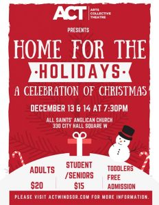 ACT Windsor Home For The Holidays Christmas Concert Poster