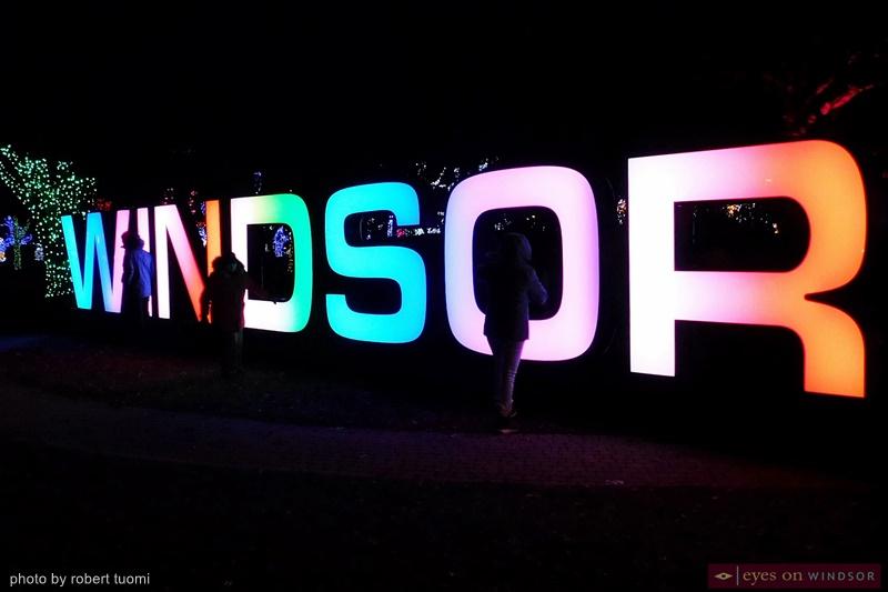 Bright Lights Windsor City of Windsor Sign