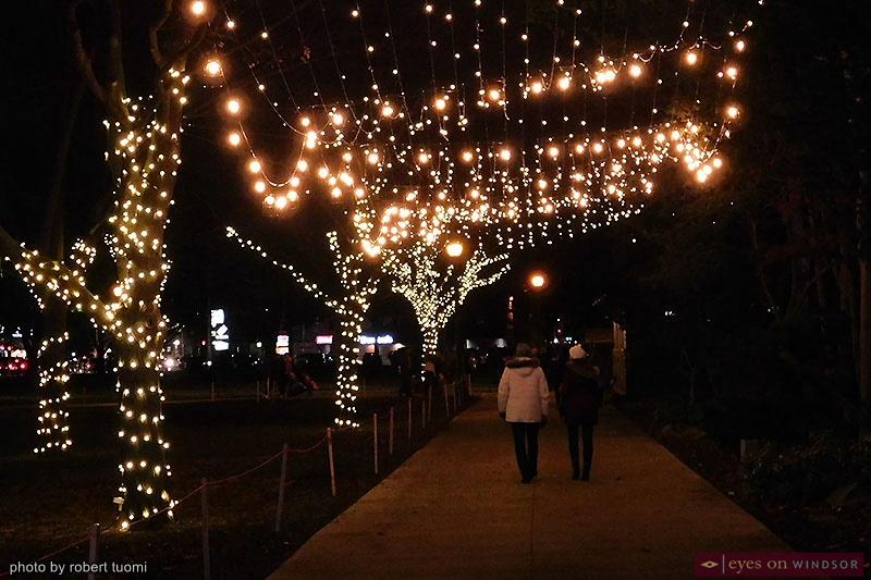 Bright Lights Windsor walkway