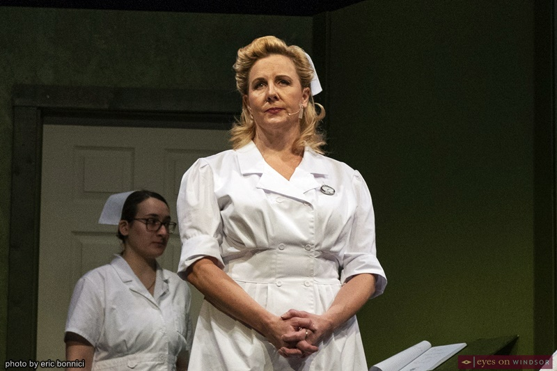 Actor Allison Still as Nurse Ratched in Cardinal Music's One Flew Over The Cuckoo's Nest