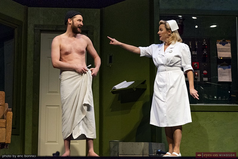 Actors Kyle C. Haight and Allison Still in Cardinal Music Productions One Flew Over The Cuckoo's Nest