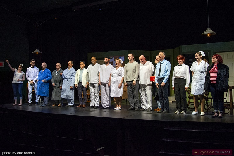 Cast of Cardinal Music Productions One Flew Over The Cuckoo's Nest taking a final bow