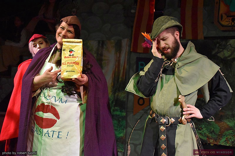 Josephine Scebba as Mother Tucker in Robin Hood Holiday Panto at Kordazone Theatre