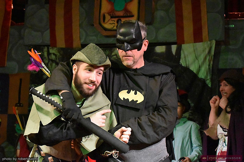 Colin Zorit and David Lucier in Robin Hood Holiday Panto at Kordazone Theatre