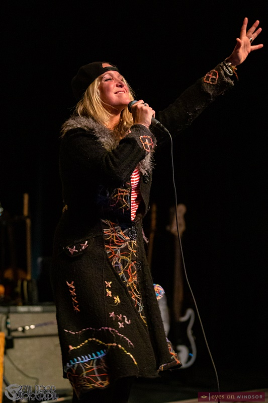 Sarah Smith performing during her Unveiling Album Release Show