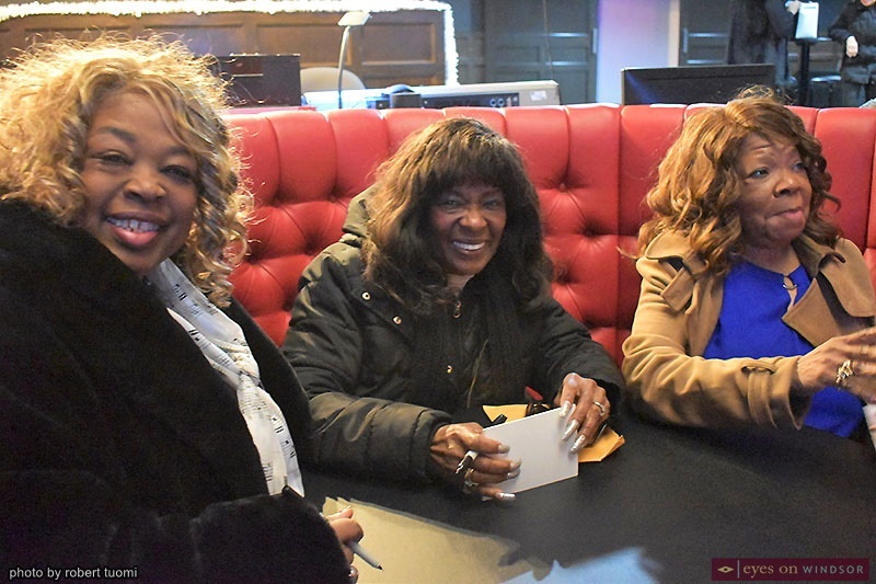 The Vandellas Roschelle Laughhunn, Annette Beard-Helton and Rosalind Ashford-Holmes, at the Olde Walkerville Theatre