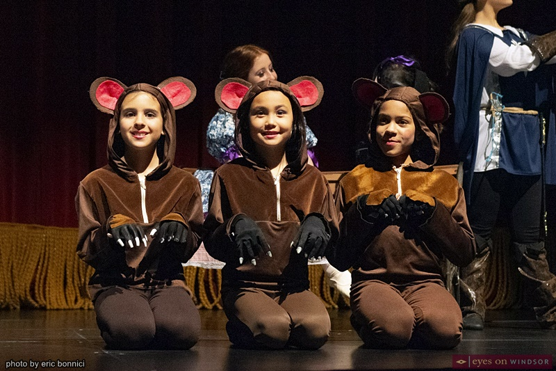 Deena Agius, Evelyn Darby and Ellee Phung as the Three Blind Mice in Windsor Dance Experience's New Adventures in Toyland