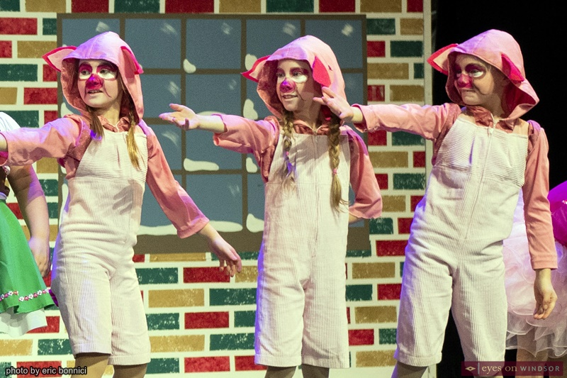 Gracie Cote, Emery Merschback and Coryn Trepanier in Windsor Dance Experience's New Adventures in Toyland