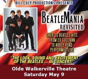 BeatleMania Revisited Beatles Tribute Concert Poster Olde Walkerville Theatre