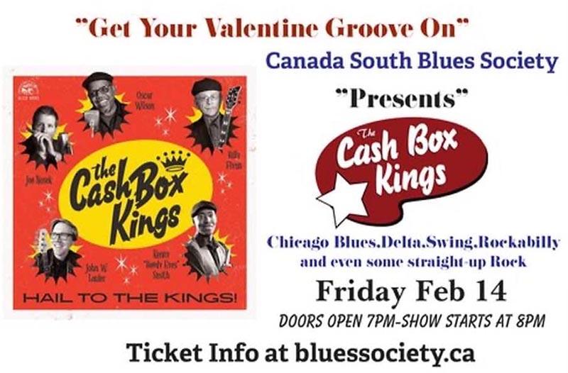 Canada South Blues Society Cash Box Kings Poster