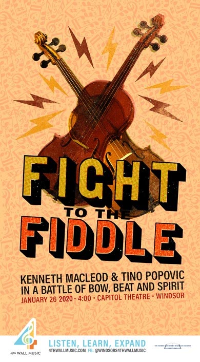 Fight To The Fiddle Poster 4th Wall Music / Windsor Symphony Orchestra