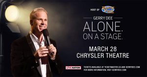 Gerry Dee Alone On A Stage Poster Chrysler Theatre Windsor