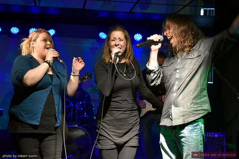 Singers Candi Doherty, Jessica Loiselle and David Michael