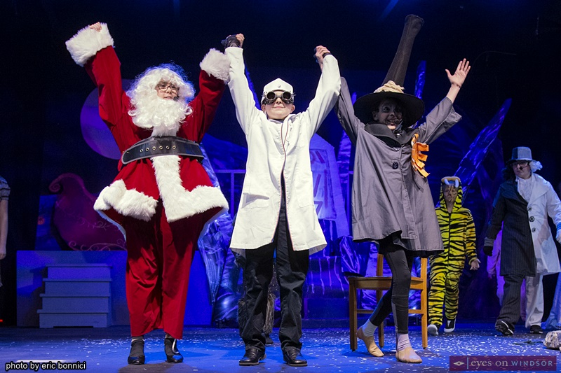 Cast members Mena Fusaro, Caiden Cage, and Jocelyn Robitaille LAFA Nightmare Before Christmas Experience