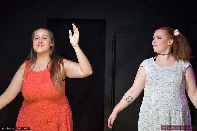 Yasmine Sole and Kayla McArdle Revolution Youth Theatre