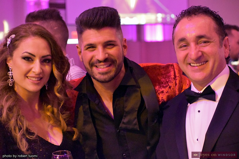 Jeanne Eid, Sonny Borrelli and Victor Eid, at the T2B Gala