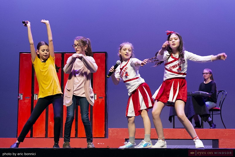 Chrysler Theatere Kids' High School Musical Jr. Cast Members Performing