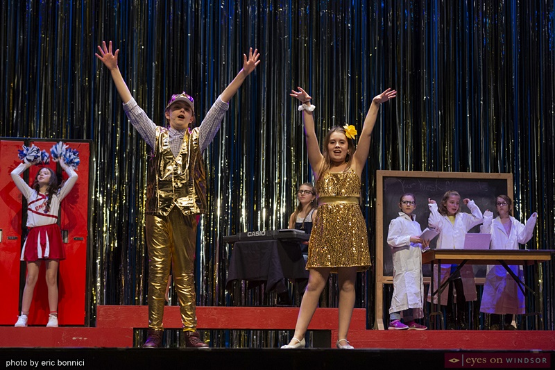 Chrysler Theatre Kids' Corinne Beneteau and Vanessa Randell in High School Musical Jr.