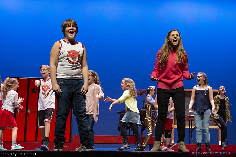 Chrysler Theatre Kids' Jed Polsky and Maria Hausmann in High School Musical Jr.