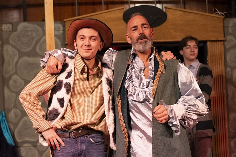 Nikolas Prsa and Dean Valentino in the Fantasticks