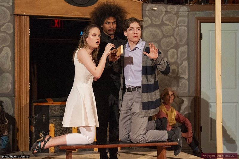 Lev Tokol, Chris Boyd, and Sydney White in The Fantasticks