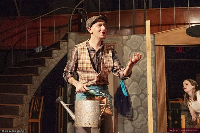 Nicholas Bourque as Bellomy in the Fantasticks at Kordazone Theatre