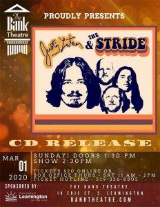 Justin Latam Stride CD Release Concert Poster