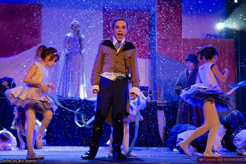 Oscar Cormier in Frozen Jr. by Riverfront Theatre Company