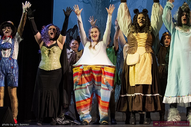 Cast dancing Shrek The Musical by Cardinal Music Productions