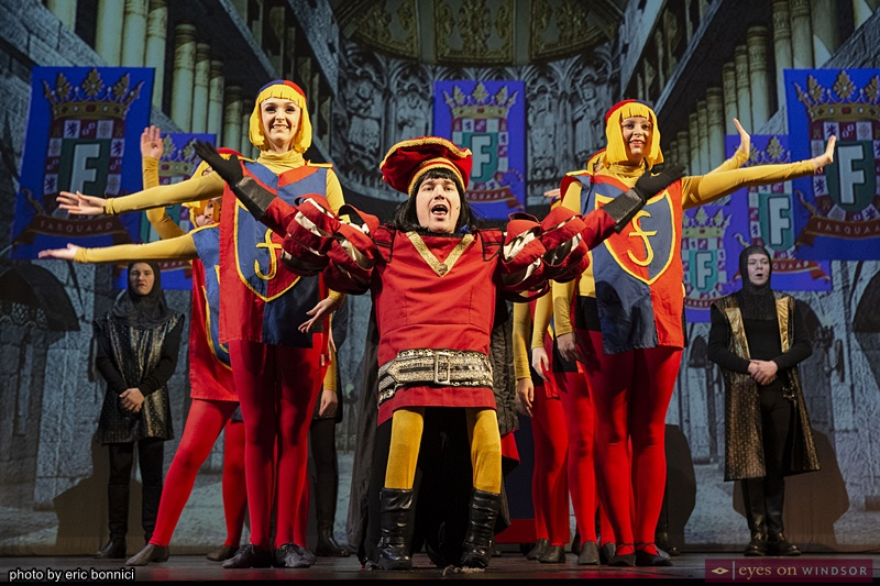Drew Beaudoin as Lord Duloc in Shrek The Musical by Cardinal Music Productions