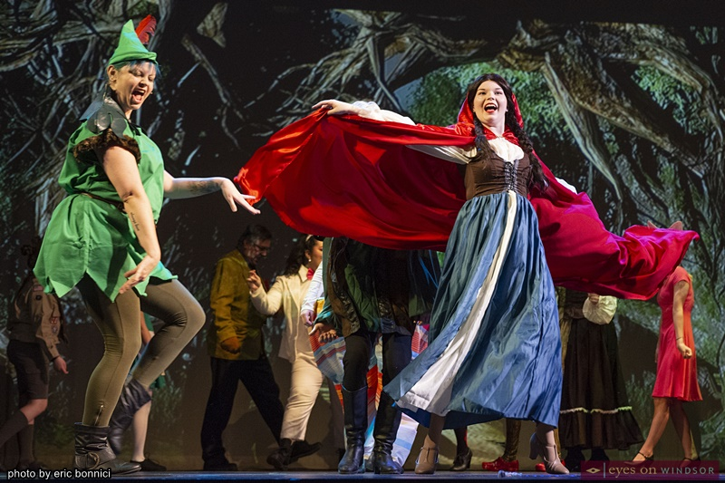 Julie Walton and Briannah Deschine in Cardinal Music's Shrek The Musical