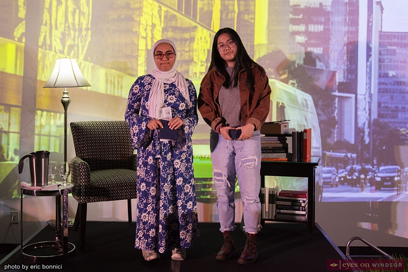 Tell Your Story Writing Contest Finalists Raida Farzat and Emily Hu